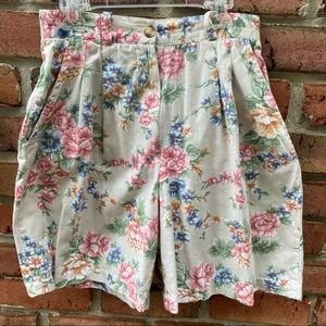 Gina Peters Vintage High Rise Floral Shorts 8P
